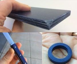 Denim micarta (MYcarta) for knife handles