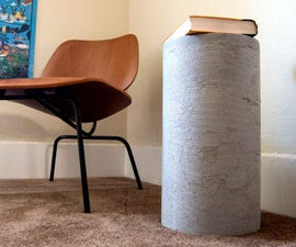 Concrete Side Table and Stool
