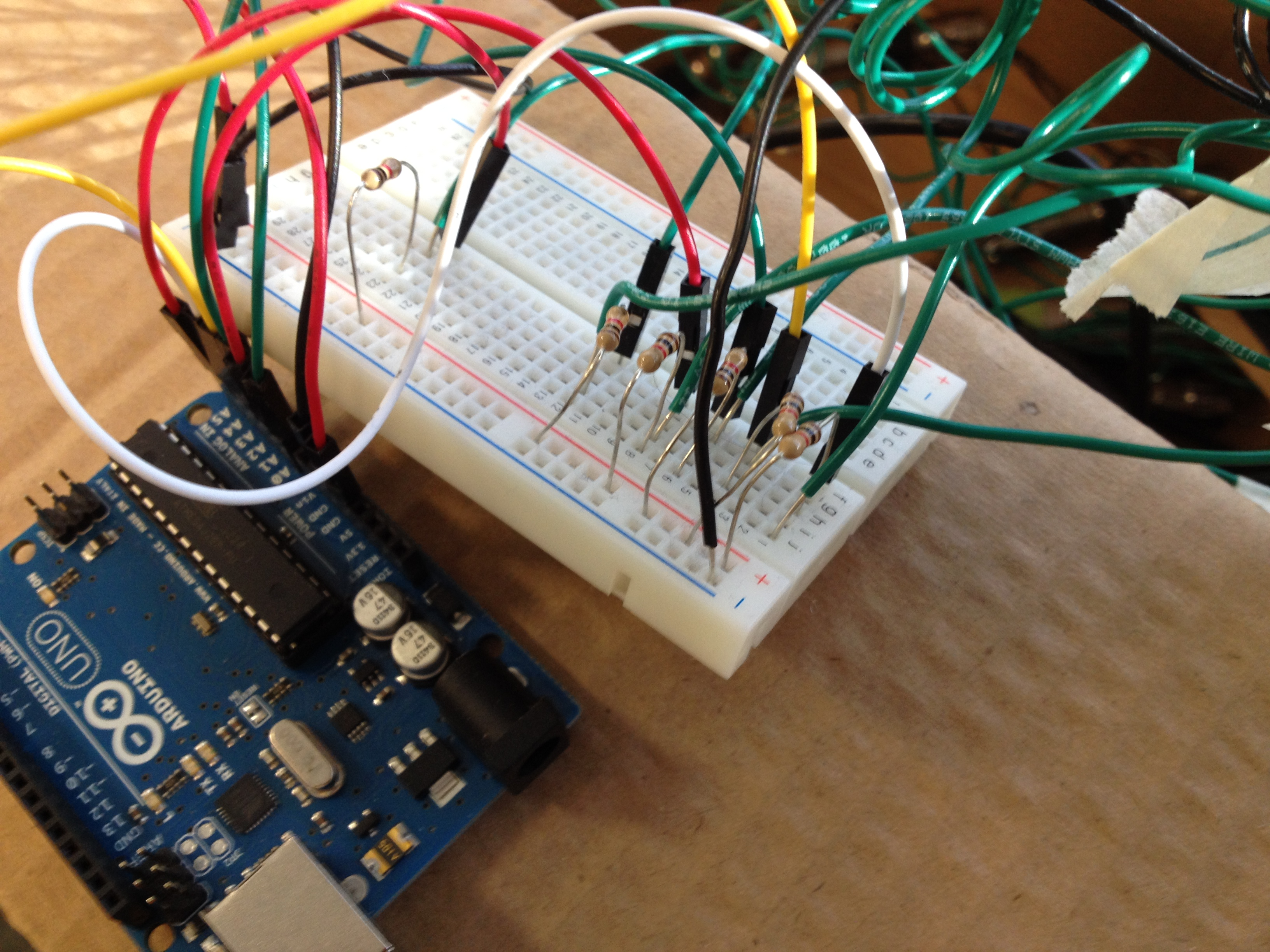 Picture of Solder the Ground Wire, Connect Everything to the Arduino.