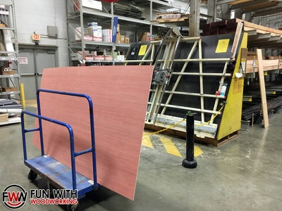 """Purchase 1/4"""" Plywood - You Need 2 - 2 Ft X 2 Ft Pieces"""