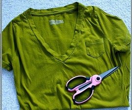 How to make a T-shirt into a necklace!