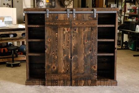 DIY Sliding Door Bookshelf