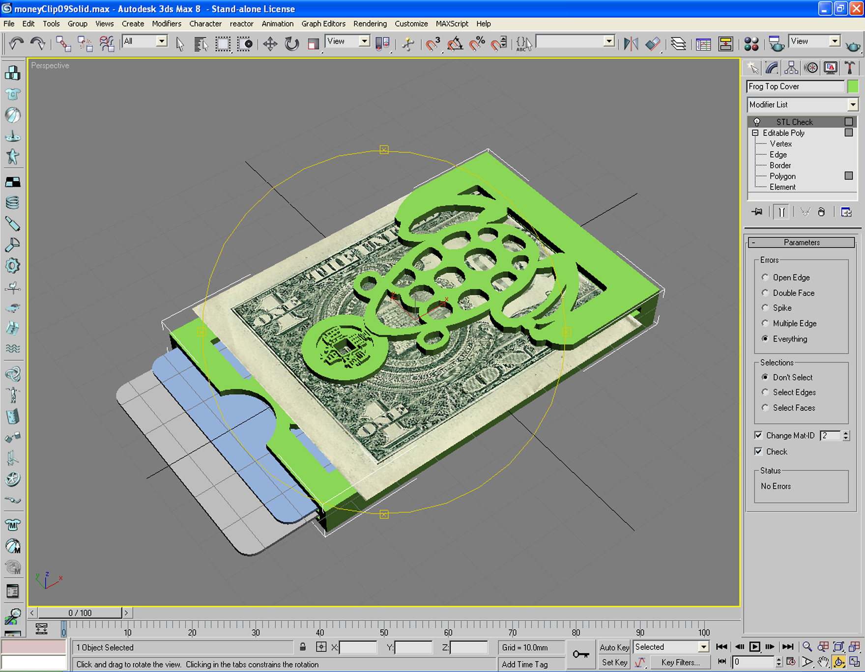 """Picture of Assemble the """"Fortune Frog"""" Money Clip"""