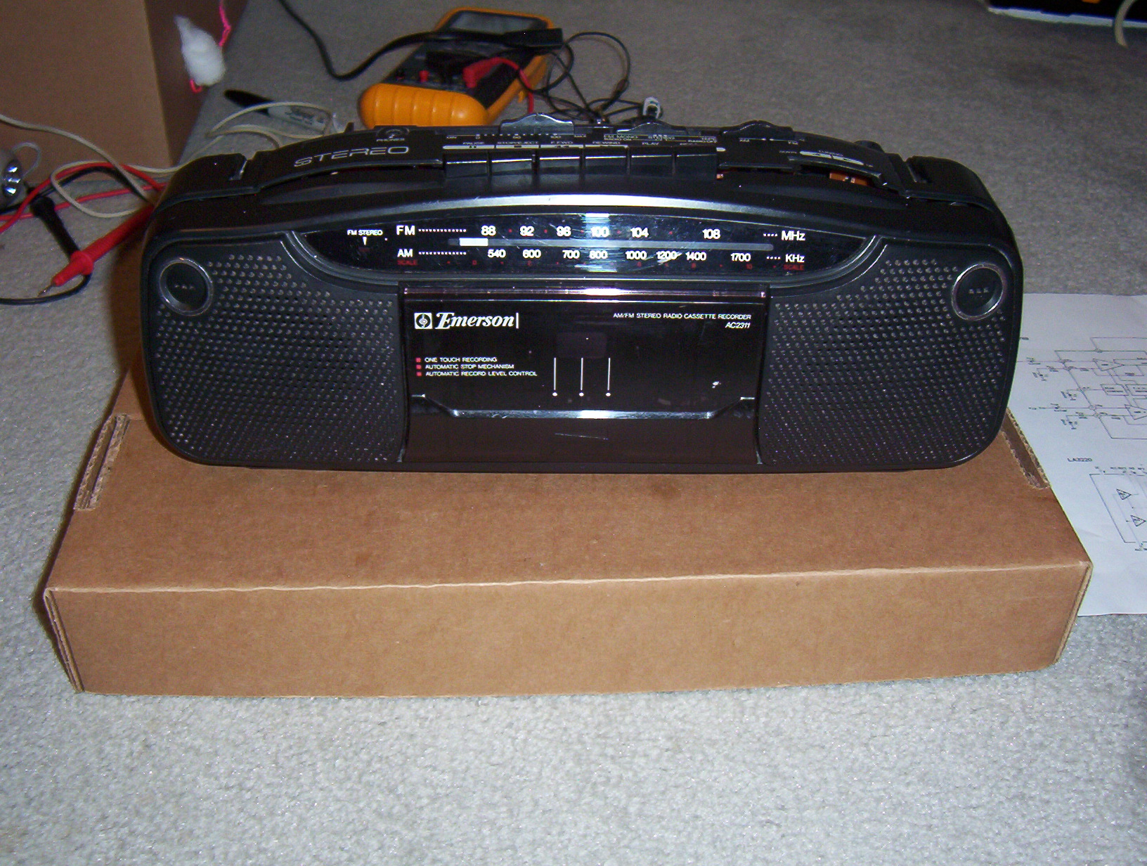 Picture of Convert a Radio Tape Player to an MP3 Boombox
