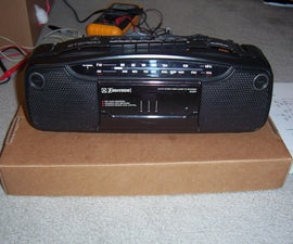 Convert a radio tape player to an MP3 Boombox