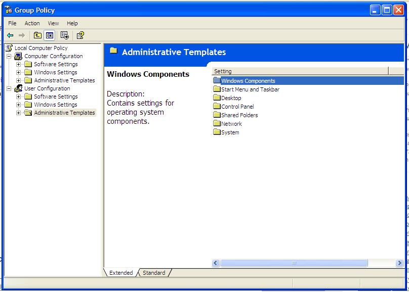 Picture of Double Click Windows Components.