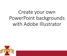 Microsoft PowerPoint Background Created on Adobe Illustrator