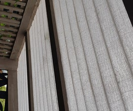 Corrugated Plastic Roof Sun Screen From Decorators Sheet