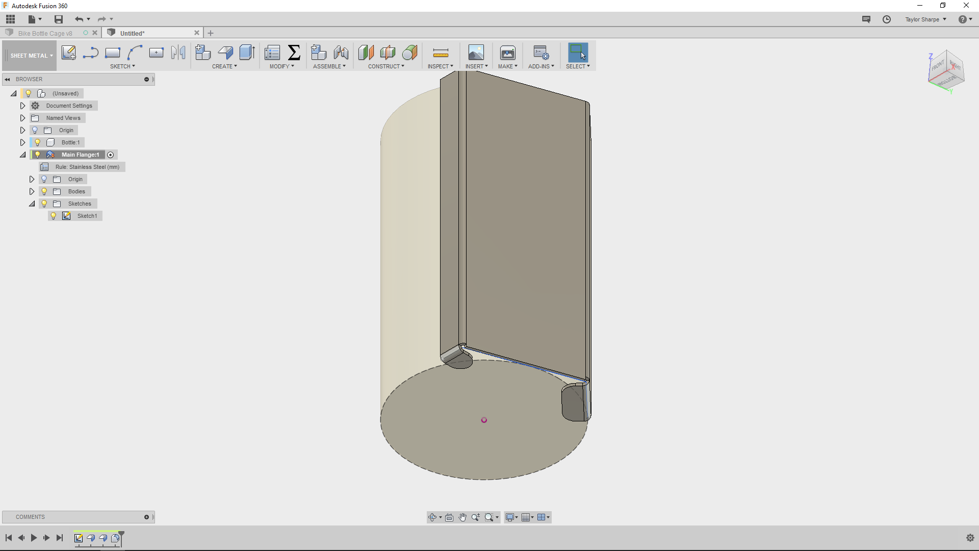 Picture of Experiment With the Main Flange Sketch