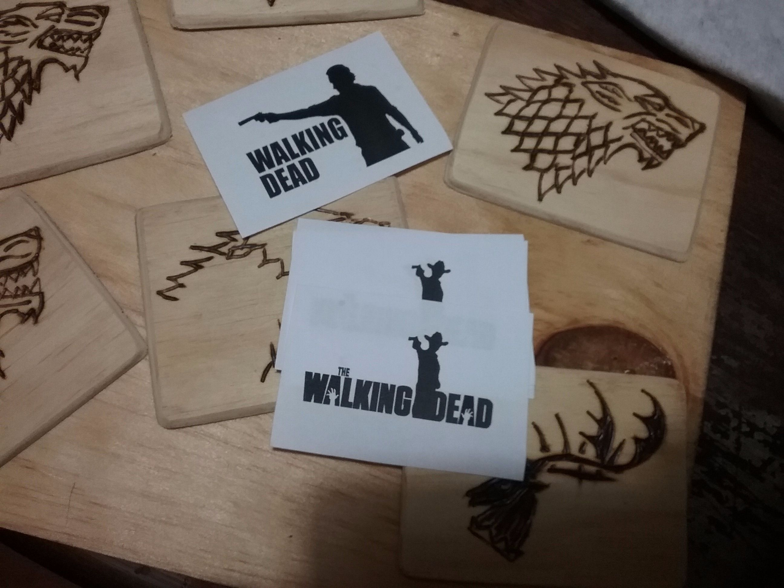 Picture of Selecting the Stencil and Drawing Over the Wood