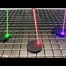 Laser Motion Control of Levitating Graphite