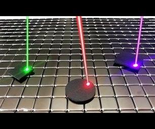 Laser Motion Control of Levitating Graphite