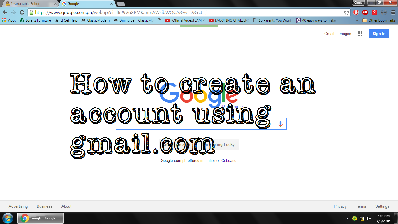 Picture of How to Create an Account Using Gmail.com??