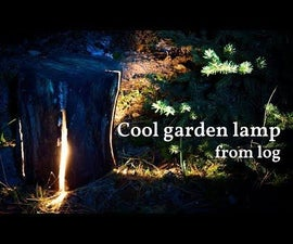 Cool Garden Lamp From Reclaimed Cracked Wood Log