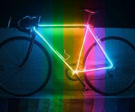 Neon Glow Bike with EL Wire Kits