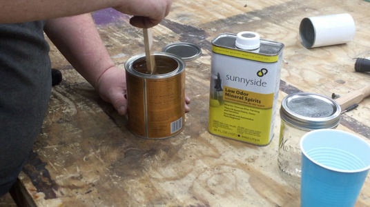 Mix Up the Wipe on Polyurethane