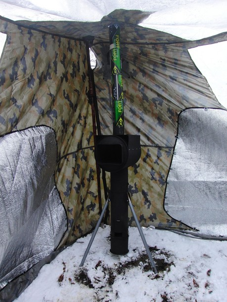 Picture of Final Test in Winter and Winter Tarp...