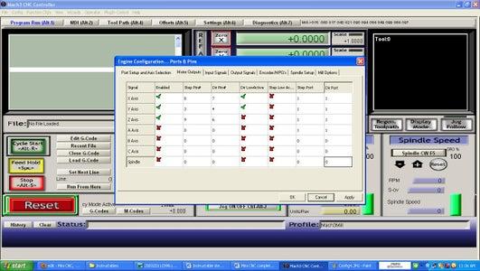 CNC Software Configuration