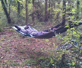Tarpaulin and Paracord Hammock