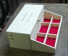 Laser cut Finger Joint  Valet box with tray
