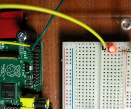 Blinking a LED with raspberry pi