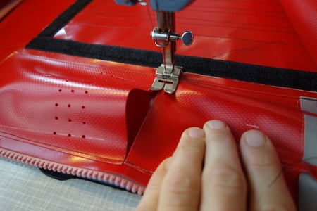 Upper Side Pouches: Sewing Accross