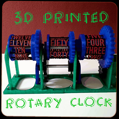 Picture of 3D Printed Rotary Clock
