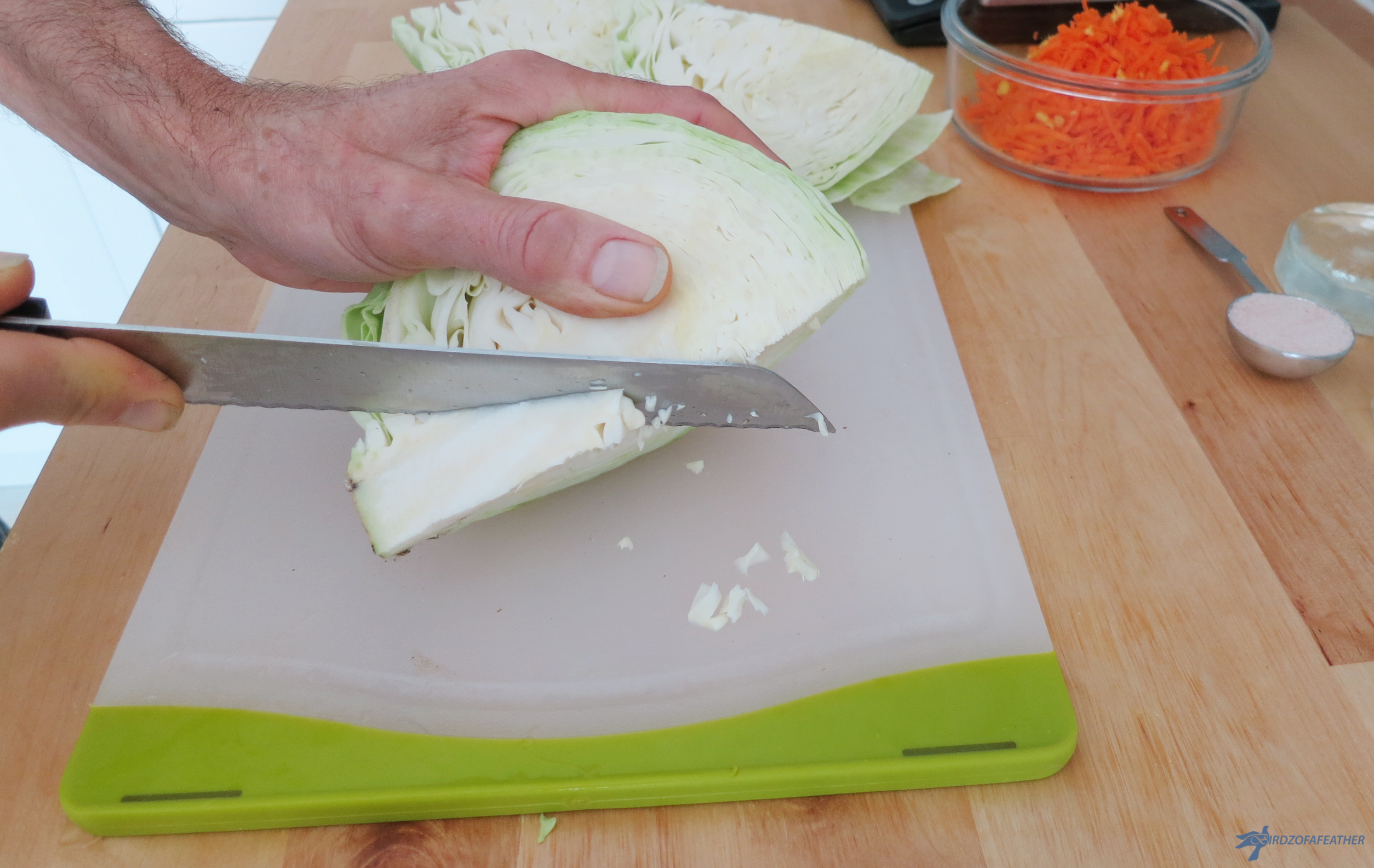 Picture of Prep Cabbage and Set Mandolin