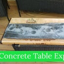 Concrete and Wood Coffee Table