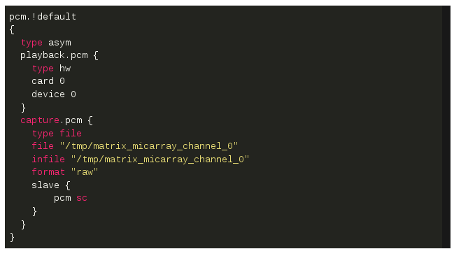 Picture of Override ALSA Configuration