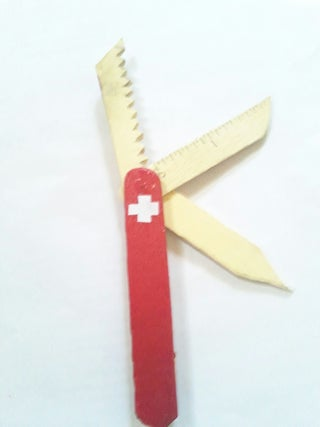 Making a Proper Swiss Army Knife With Popsicle Sticks (normal Size.) V2.0