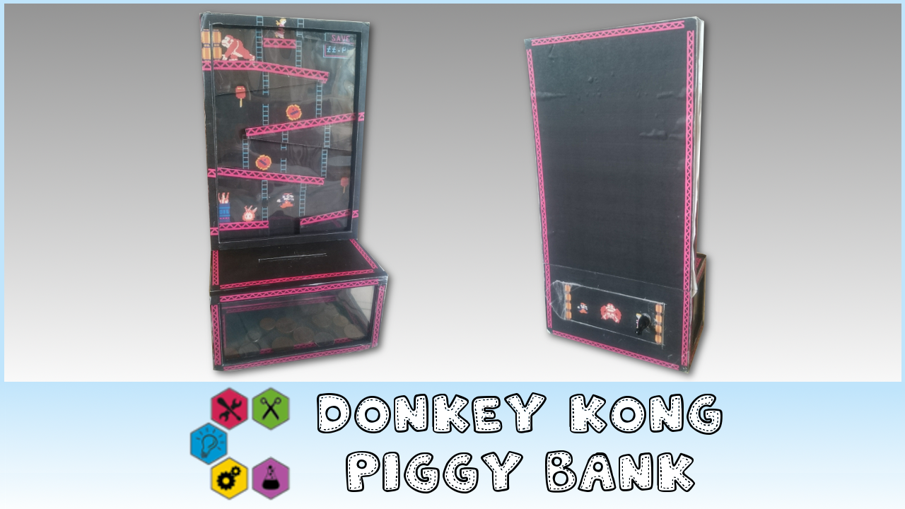 Picture of How to Make a Donkey Kong Coin Drop Piggy Bank