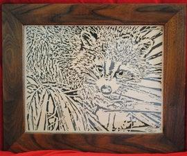 Scroll Saw Raccoon