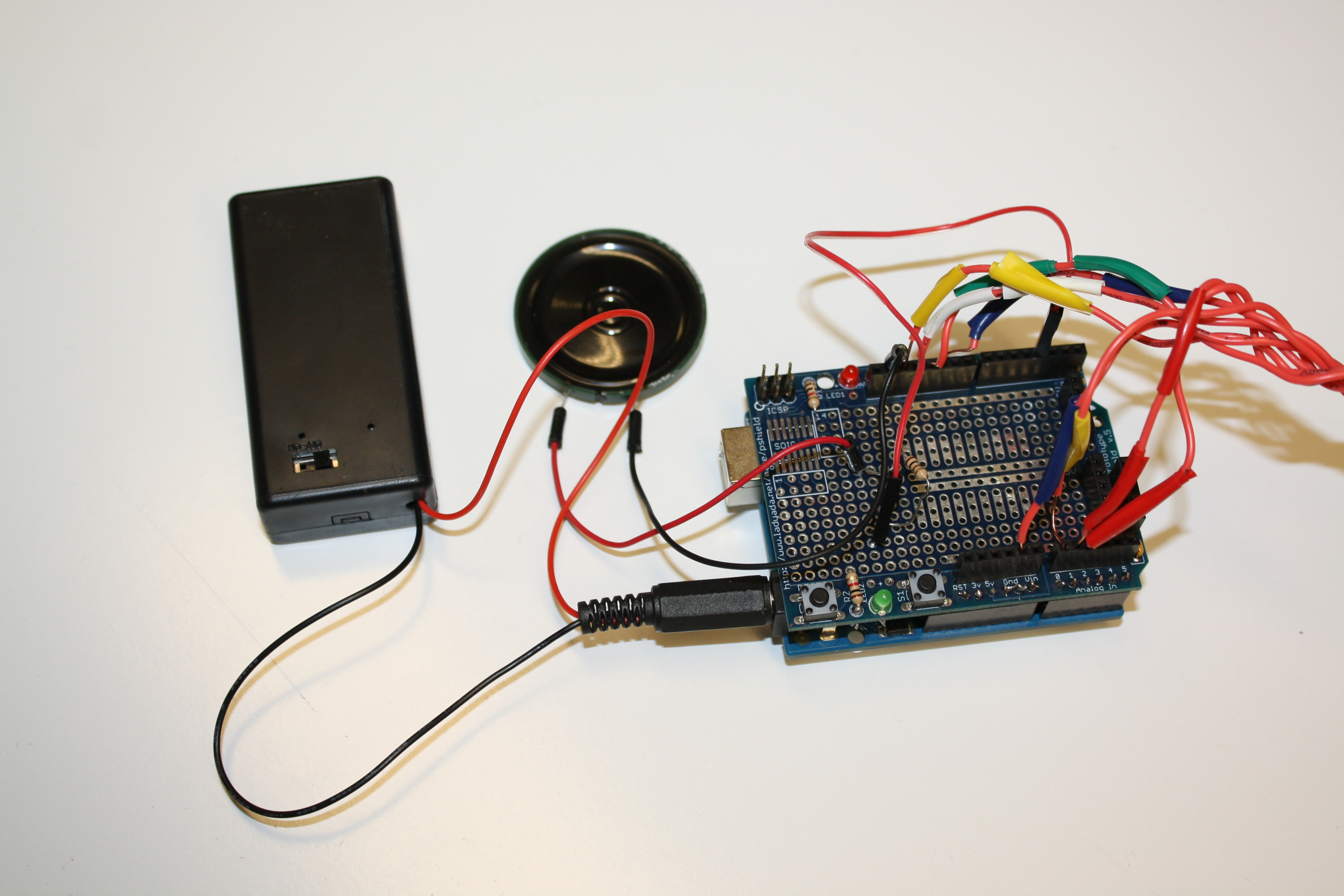 Picture of Insert Wires Into Arduino and Hook Up Speaker