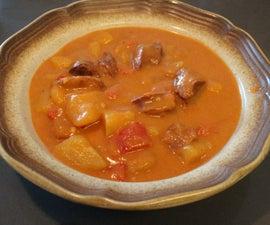 "Authentic Hungarian ""Krumplileves"", (Creamy Potato Soup With Sausage)"