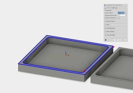 Setup3: 2D Contour for Chamfer