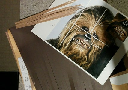 Cut Out Strips of Wookie Hair