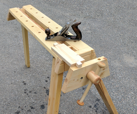 Folding Portable Workbench With Quick Release Vise