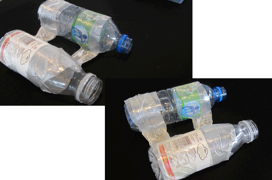 Picture of Tape the Water Bottles Together