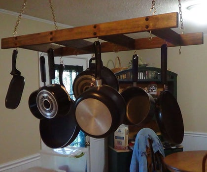 Make a Wooden Pot Rack