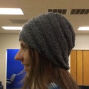 Knitted spiral hat
