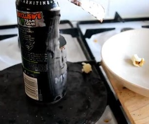 How to Make a PopCorn Machine Out of a Can - Survival/Camping