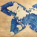 Laser Cut Butterfly World Map