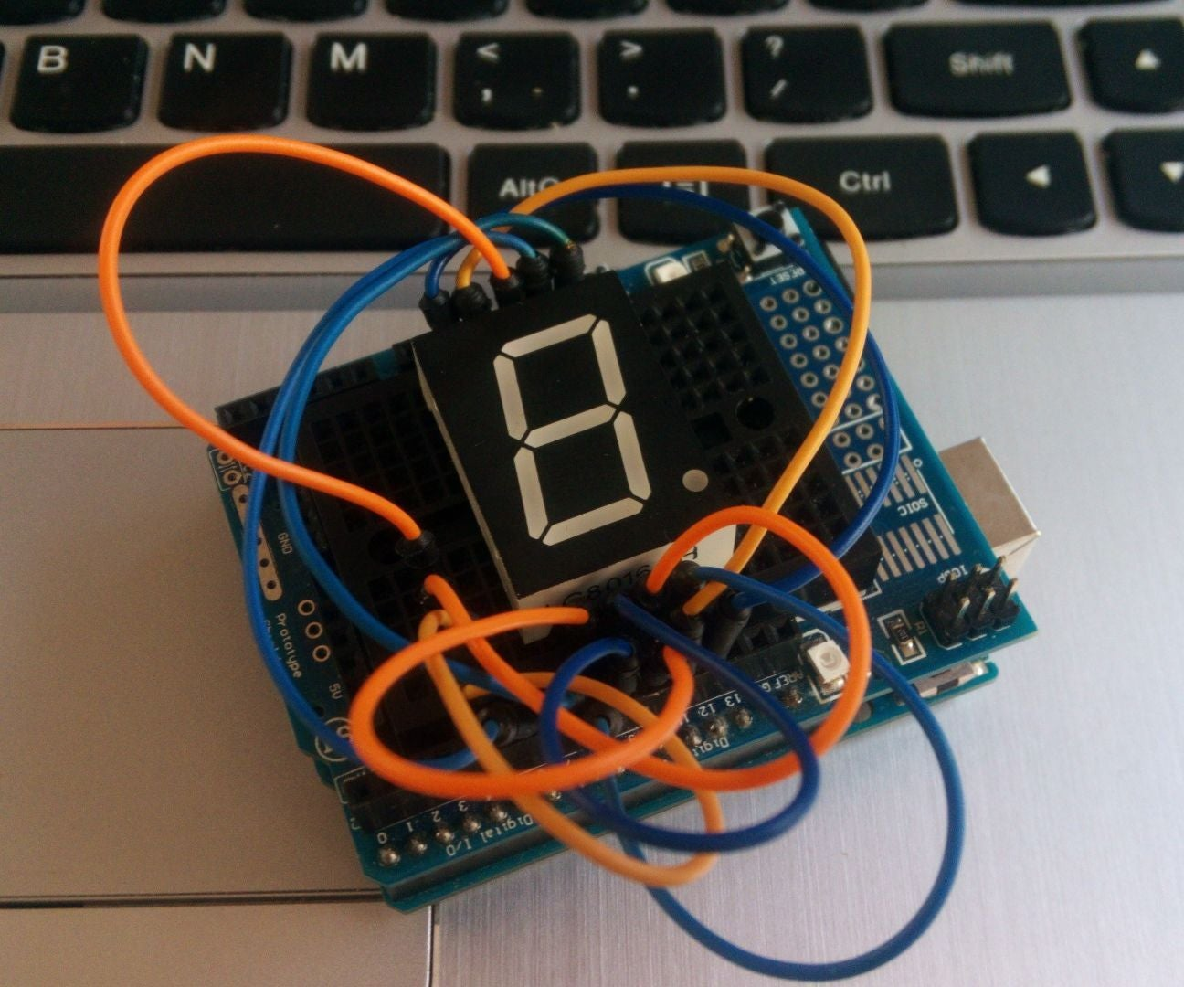 How To Use A Seven Segment Display Arduino Tutorial 5 Steps In The Circuit Above Using 7 Commond Anode Type