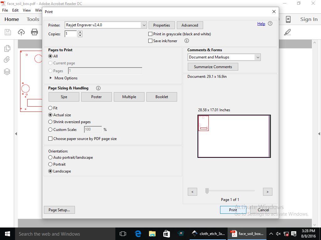 Picture of Finalize Settings