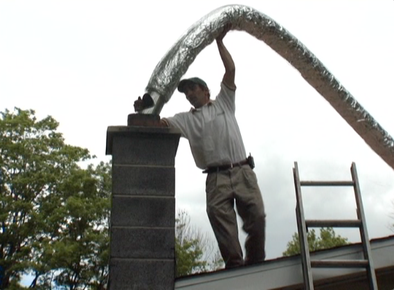 Picture of Flexible Chimney Liner Installation