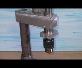 Homemade Press Drill DIY Chuck Spindle Vertical Drilling Wood Router Machine