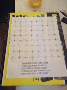 Grid for LEDs