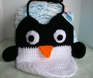 Crochet a Penguin Bib