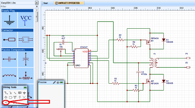 Picture of Simulating the Circuit in EasyEDA: